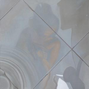 Baldosa 10. Oleo Sobre Lienzo. 91 cm x 91 cm