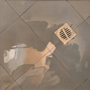 Baldosa 7. Oleo Sobre Lienzo. 91 cm x 91 cm