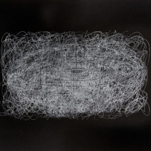 Rastros 2 - Carbónico sobre papel - 33 x 47 cm. 2017