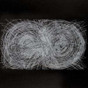 Rastros 4 - Carbónico sobre papel - 33 x 47 cm. 2017
