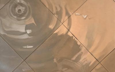 Baldosa 5. Oleo Sobre Lienzo. 91 cm x 91 cm